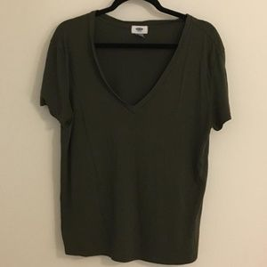 Old Navy Olive Green T-Shirt